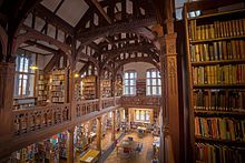 Gladstone's Library - In 1895, at the age of 85, William Gladstone gave £40,000 and much of his own library. Armed with only his valet and one of his daughters, William Gladstone wheeled 32,000 books three quarters of a mile between his home at Hawarden Castle and the library. He unpacked them and put them onto shelves using his own catalogue system.