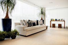 Revestimento Silicato HD - Cerâmica Portinari. Varanda, sacada, sala, living, living room.