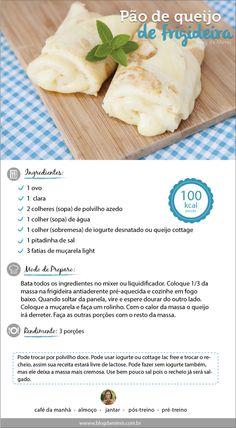 Pão de queijo de frigideira light