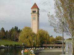 Great Northern Railroad clock tower, River Front Park, Spokane, WA