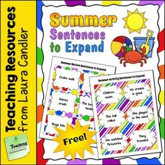 Do your students have trouble writing interesting sentences? If so, teach them how to jazz up their sentences with vivid vocabulary as they expand these summer-themed sentences. One set of sentences deals with signs of summer in nature, and the other includes sentences about summer activities.