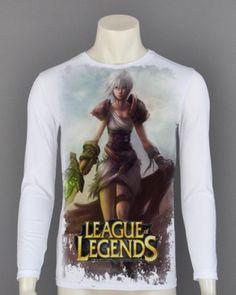 XXXL League of Legends mens t shirt cool Riven long sleeve-