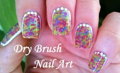 Multicolor dry brush #nailart - Summer #naildesigns For more easy ideas please visit: https://www.youtube.com/user/LifeWorldWomen