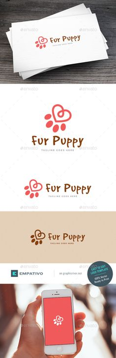 Fur Puppy  Logo Design Template Vector #logotype Download it here: http://graphicriver.net/item/fur-puppy-logo-template/15687402?s_rank=1752?ref=nexion