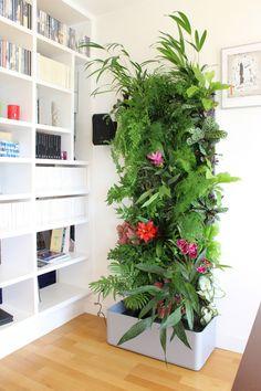 casas naturales con jardines verticales pequeños