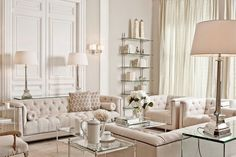 Luxury Apartment Interior Decorating And Design Ideas is part of Living Room Luxury Apartment - Having a small apartment does not mean that you can not do anything to enhance the look of your apartment […] Formal Living Rooms, Home Living Room, Living Room Designs, Ivory Living Room, Living Room Decor Elegant, Living Spaces, Modern Living, Home Design, Home Interior Design