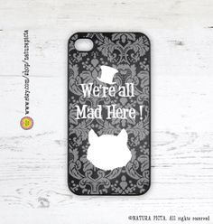 We're all mad here cheshire cat quote Alice iphone by naturapicta, $19.99 ©NATURA PICTA