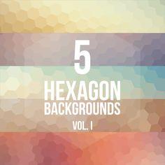 5 Hexagon Backgrounds Vol. I by Pedro Henrique Nascimento, via Behance