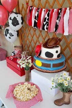 Boy's Toy Story Themed Birthday Party Dessert Table Decor Ideas