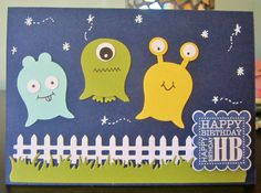 Handmade kid's birthday card ... Blog: EnchantINK ... Stampin' Up! Owl punch