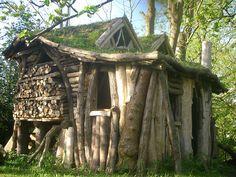 Interesting kind of log house....