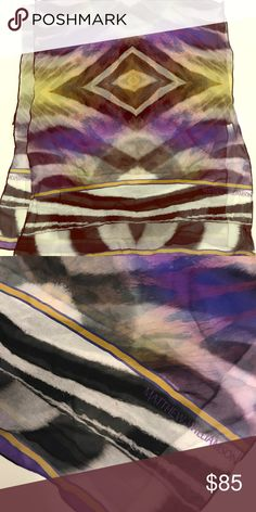 Matthew Williamson Silk Scarf Beautiful, chic silk scarf perfect for everyday glamour. Perfect condition. Matthew Williamson Accessories Scarves & Wraps
