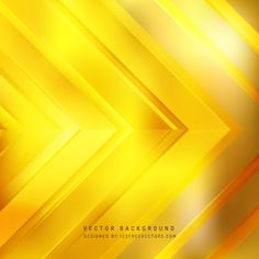 Abstract Yellow Arrow Background Design #freevectors