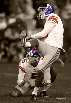 A really awesome picture. Lawrence Tynes showing up big in the clutch and Steve Weatherford just being awesome