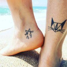Tatuaje de Gato de Origami