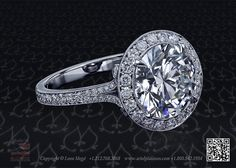 Cold Fusion™ halo engagement ring, featuring carat round diamond by Leon Mege Halo Diamond Engagement Ring, Designer Engagement Rings, Solitaire Ring, Beautiful Diamond Rings, Dress Rings, Halo Rings, Diamond Are A Girls Best Friend, Round Diamonds, Cold Fusion