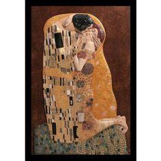 El Beso de Gustav Klimt #Ambar #Muebles #Deco #Interiorismo #Cuadros #Art   http://www.ambar-muebles.com/el-beso-de-klimt.html
