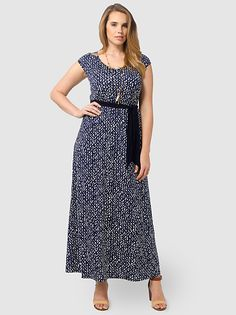 Tiana Maxi Dress In Hampton Royal by Igigi,Available in sizes 10/12,14/16,18/20,22/24,26/28 and 30/32