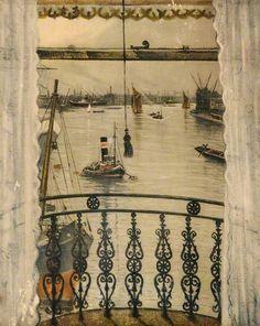 Christopher Richard Wynne Nevinson (British, 1889-1946) - Greenwich Reach