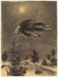Ghost over the Trees by Franz Sedlacek on Curiator, the world's biggest collaborative art collection. Arte Horror, Horror Art, Creepy Art, Scary, Dibujos Dark, Illustration Art, Illustrations, Gravure, Dark Fantasy