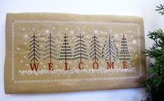 """NEW design set called """"Welcome"""" I love this design as it adds that Christmas welcoming feel to your home and it has been proven to be such a popular set and a great saving to you. Please see this popular set at http://www.stitchingart.com/…/small-machine-…/welcome-detail"""