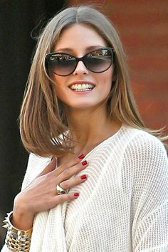 Olivia Palermo with Christian Dior glasses Olivia Palermo Hair, Olivia  Palermo Style, Punk Rock cecabefce4