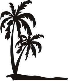 how to draw a palm tree on a glass