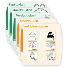 15 wandplaten, passend bij de methode Spelling in de Lift. gratis te downloaden via edulink.nl