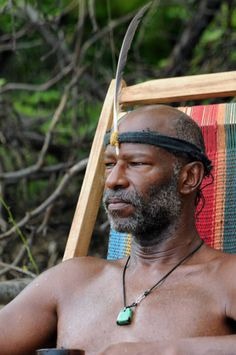 Survivor: South Pacific.  Phillip and his feather.  I Personally Believe that *Phillip* was a Hell of a Lot Smarter than He was given Credit For….His 1st Season, He played an Idiot of Sorts, But 2nd Season, He Showed What HE was Made OF……I Liked HIM  : )