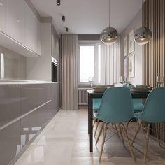Кухня-гостиная в небольшой квартире в Москве (35 кв.м.) Всех с наступающим