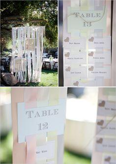 ribbon table seating chart