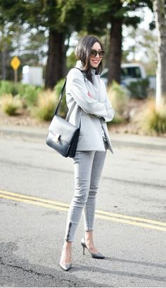 Grey  #9to5chic