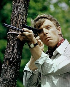 The Day of the Jackal 1973 Edward Fox stars in the film directed by Fred Zinnemann. Movie Stars, Movie Tv, Edward Fox, Fred Zinnemann, Actor James, Great Films, Film Music Books, British Actors, Classic Movies