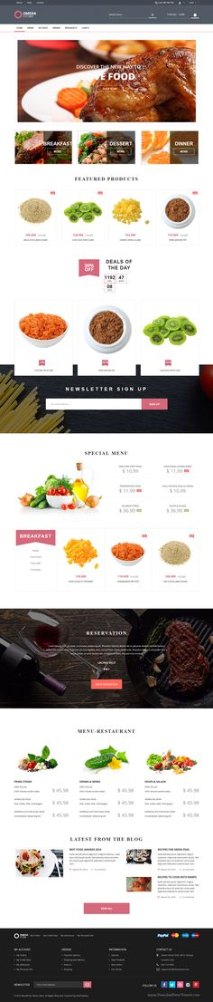 Omega Store is wonderful responsive 20 in 1 #WooCommerce WordPress Theme for multipurpose eCommerce website. #food #store Download Now!