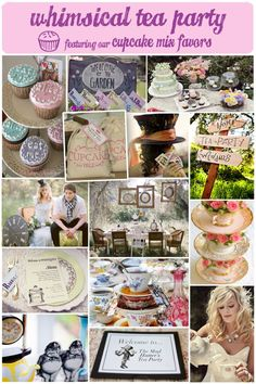 Whimsical Tea Party Themed Bridal Shower- I just thought this was cute.