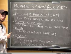 Surviving the World - Lesson 15 - Family Movies. Movies to show your kids. survivingtheworld.net    HAHA