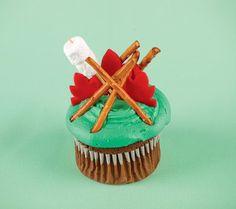 cupcakes fishing-camping-party