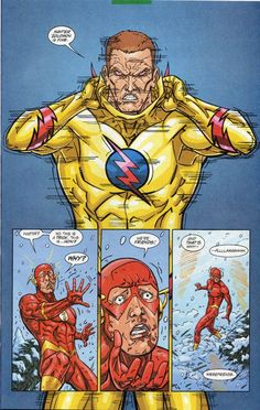 """Things are looking very bad for """"The Flash"""" lately. Not only has his most recent girlfriend Patty Spivot left him, but behind his back Harrison Wells is working with Zoom … Continue reading The Flash The Reverse-Flash Returns Dc Heroes, Comic Book Heroes, Comic Books Art, Kid Flash, Flash Art, Game Character Design, Comic Character, Dc Speedsters, Anti Flash"""