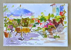 """Dreama Tolle Perry » Artist and Writer » """"Postcards from France No. 4 and No.5"""""""