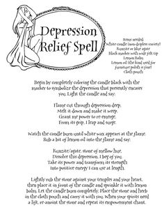 "Depression Relief Spell - ""Magick is desire made real"""