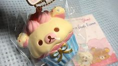 "$8.00   Rilakkuma Cupcake Squishy ""Korilakkuma white -blue cup"" GENUINE Nic from JAPAN"