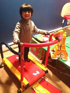 "Fun & Fitness Treadmill for Kids + a Treadmill Giveaway   Photo from the Mommyhood Chronicles: ""That's a key element for encouraging fitness for kids. When they see us do it, they want to do it."""