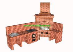 Проект барбекю угловой, с мойкой, мангалом и казаном 19 литров, казан 12 литров, столы, дровницы