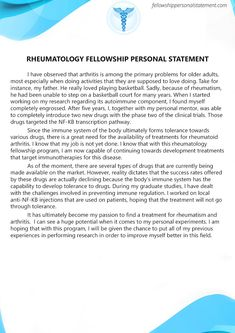fellowship personal statement samples fellowshipps  we promise you that our ps writer will provide you a quality and creative rheumatology fellowship