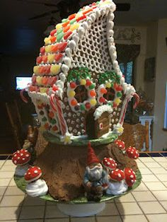 Gingerbread Gnome Home