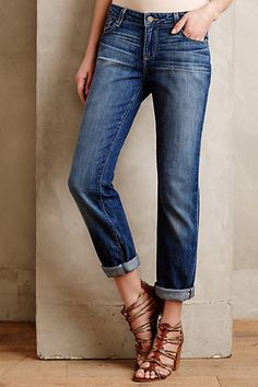 Paige Jimmy Jimmy Boyfriend Skinny Jeans  #anthropologie Like the comfy look and the wash of these.