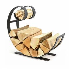 The Blacksmith Swirl Cast Iron Log Carrier Symple Stuff