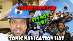 Teardown Lab - Make a bat style ultrasonic navigation hat! I make a hat to navigate around my surroundings using ultrasonic sound I am the bat .. man! Yeah its a bit crap but does sorta work! I was inspired by the TV show knightmare on this one but the idea devolved into this! http://youtu.be/mefyOka3Xis