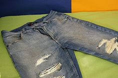 how to make hollister inspired jeans with holes in them