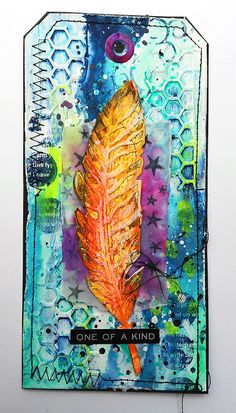 Susanne Rose Designs: Mixed Media Process with Tim Holtz Feather and Scribble Sticks